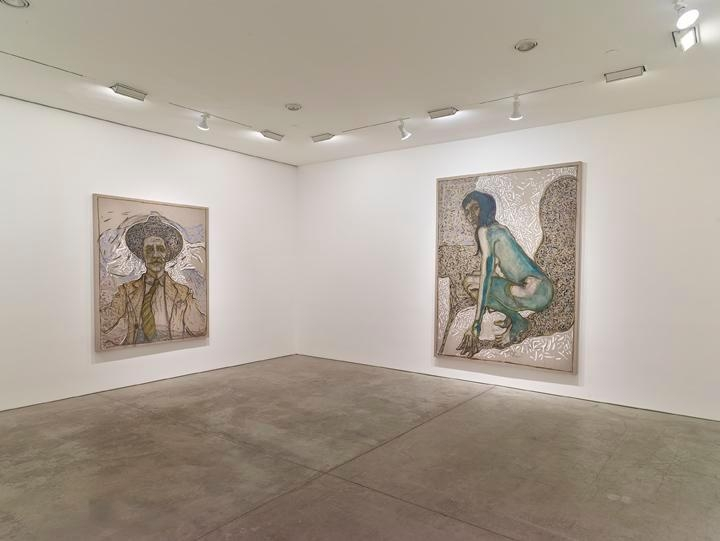 Billy Childish: flowers, nudes and birch trees: New Paintings 2015 Installation view 5