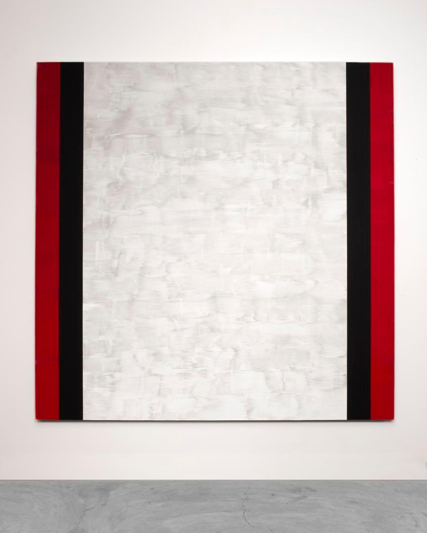 MARY CORSE, Untitled (Red, Black, White), 2015