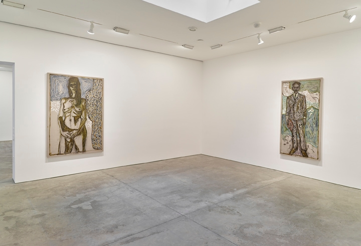Billy Childish: flowers, nudes and birch trees: New Paintings 2015 Installation view 7