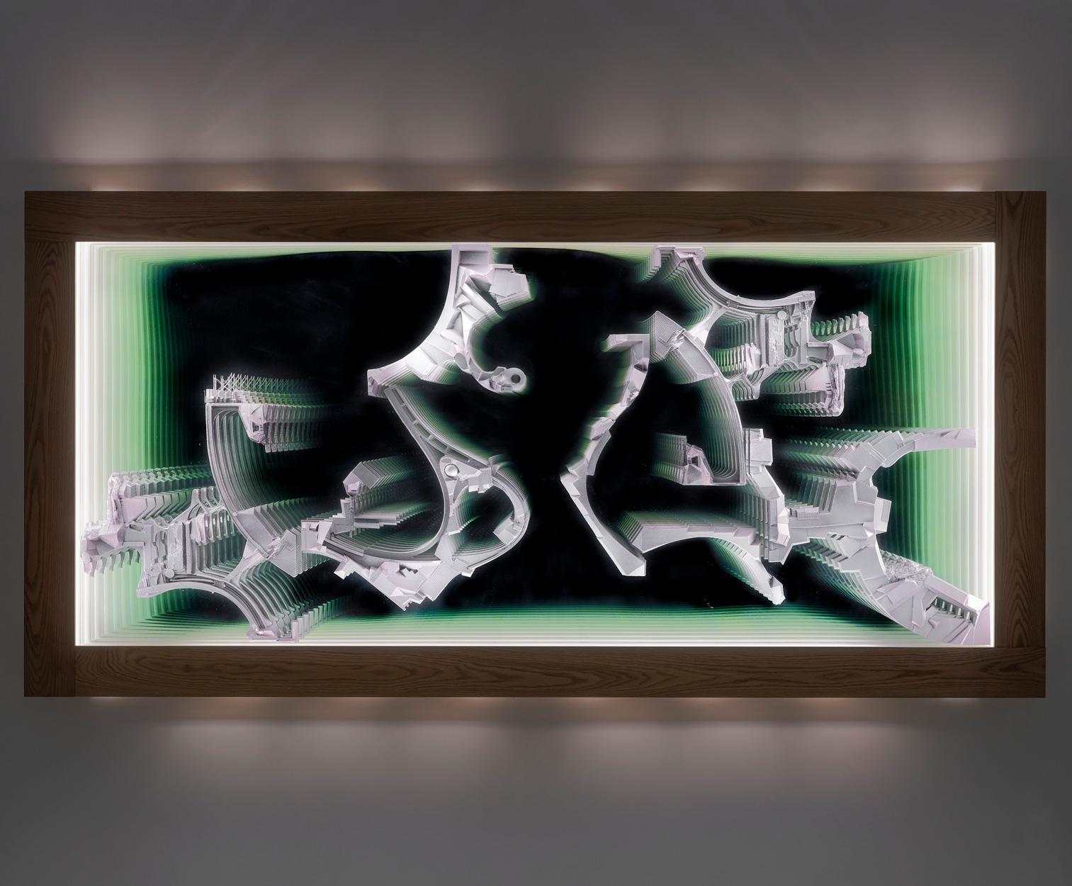 "LEE BUL, Untitled (""Infinity"" wall), circa 2008"