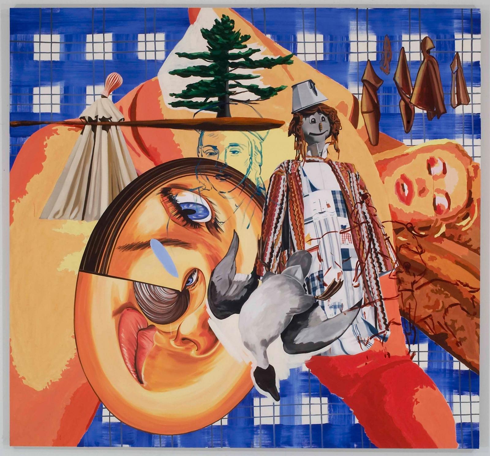 DAVID SALLE, The Scarecrows, 2006