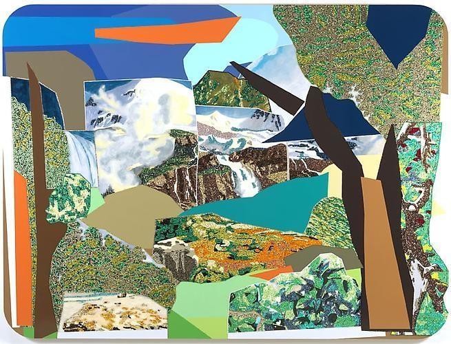 MICKALENE THOMAS Landscape - Untitled, 2010