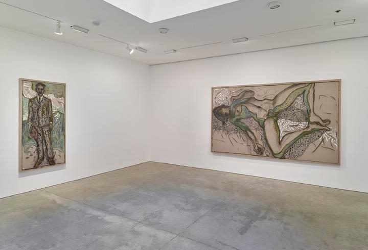 Billy Childish: flowers, nudes and birch trees: New Paintings 2015 Installation view 4