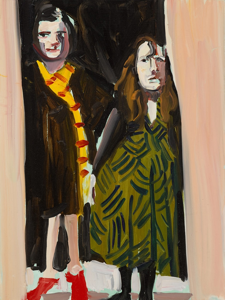 CHANTAL JOFFE, Bella and Ishbel in their doorway (first lockdown), 2020