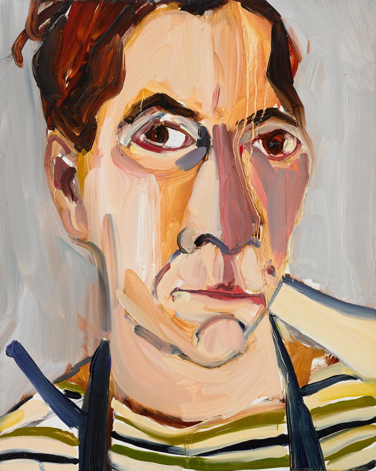 CHANTAL JOFFE, Lockdown Self-Portrait in Stripes, 2020