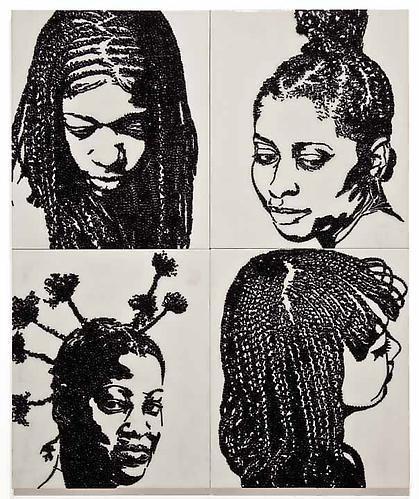 MICKALENE THOMAS Hair Portrait 4, 2011
