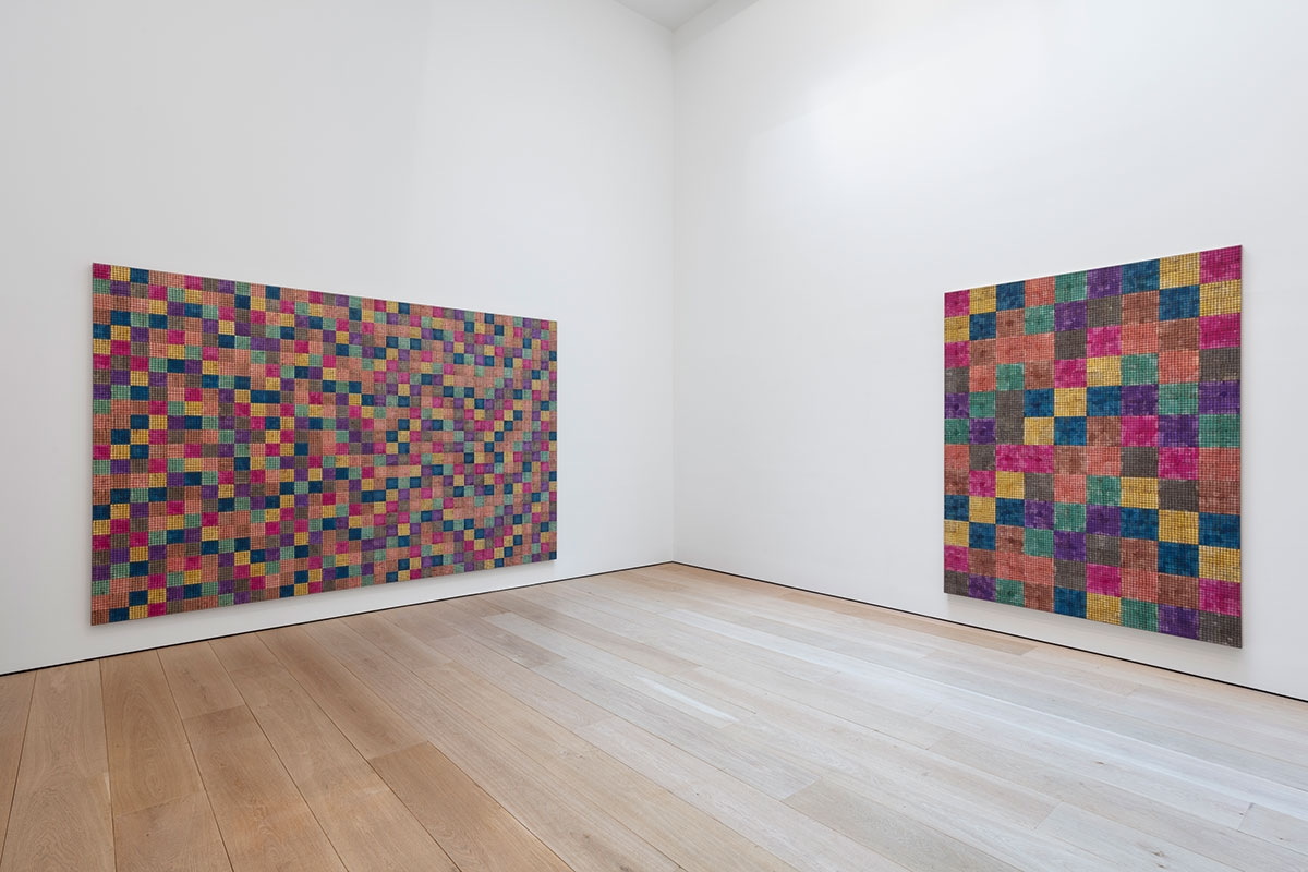 McArthur Binion:Modern:Ancient:Brown, Installation view, New York