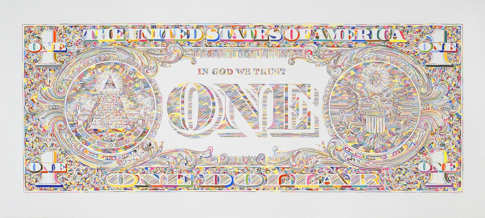 TOM FRIEDMAN, Untitled (dollar bill back), 2011