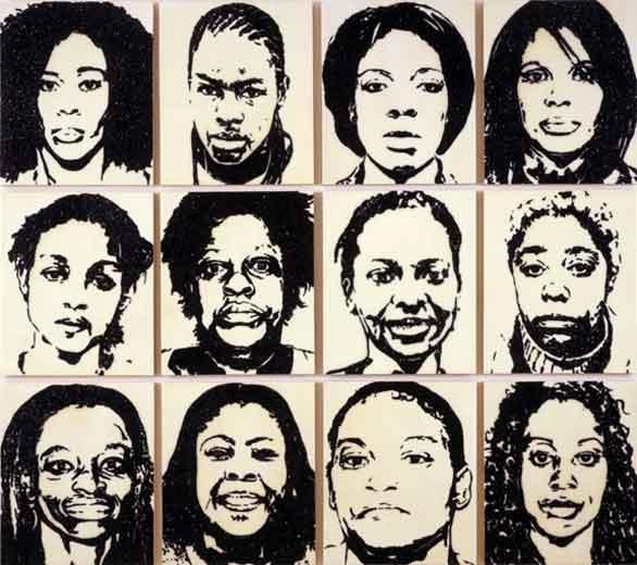 MICKALENE THOMAS FBI/Serial Portraits, 2008