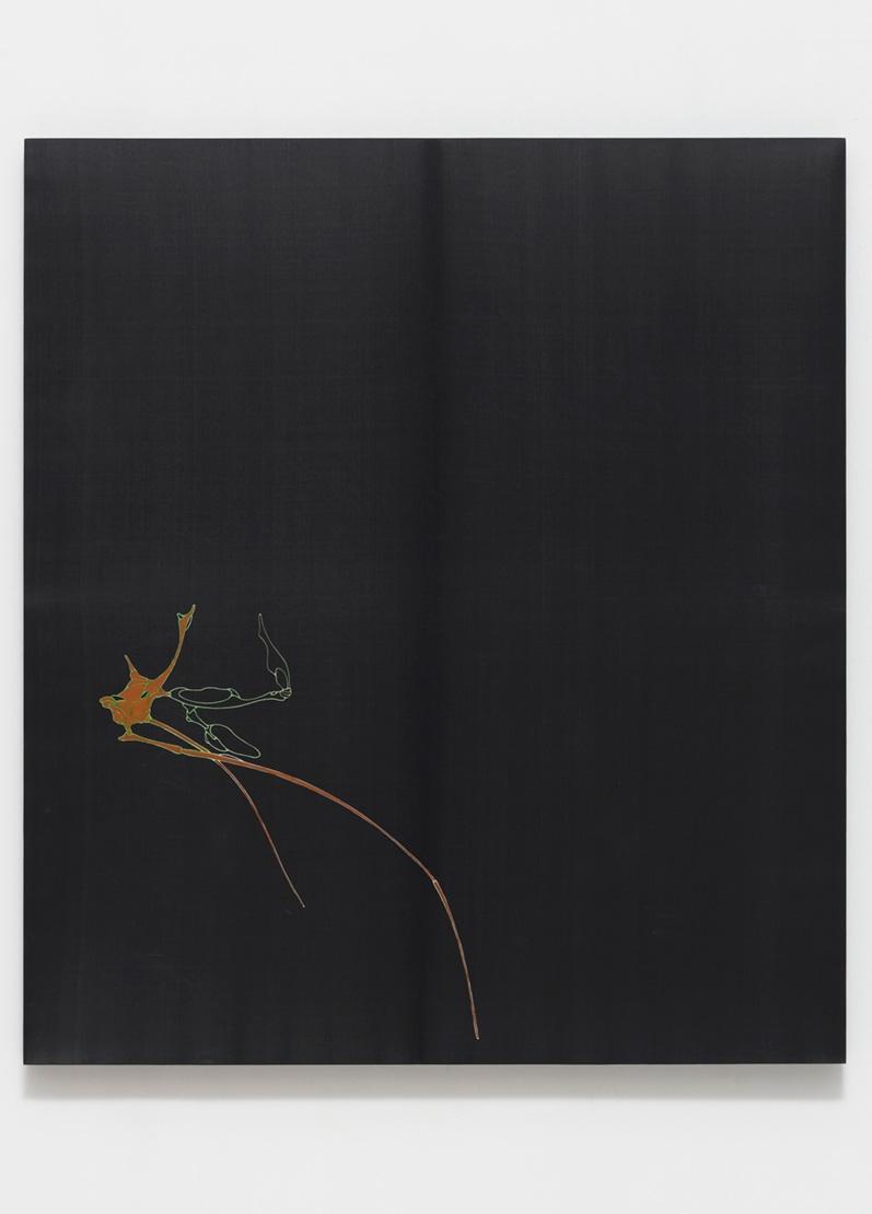 LEE BUL, Untitled (Silk Painting - Black), ca. 2002-2004