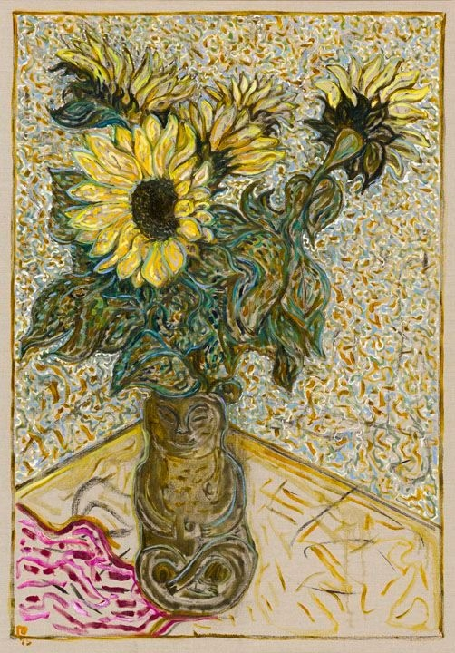 BILLY CHILDISH sunflowers, 2015