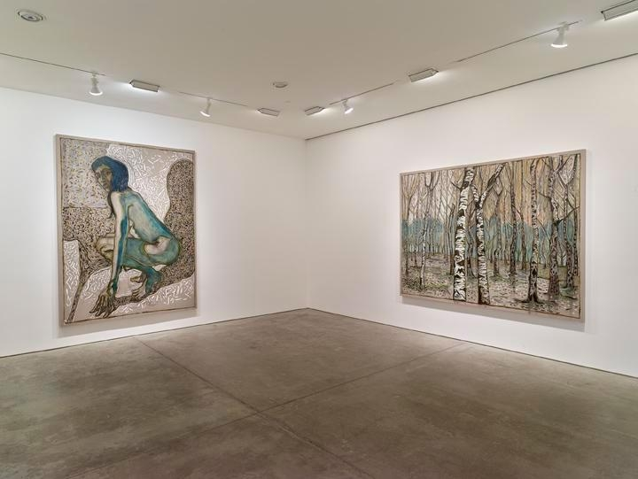 Billy Childish: flowers, nudes and birch trees: New Paintings 2015 Installation view 3