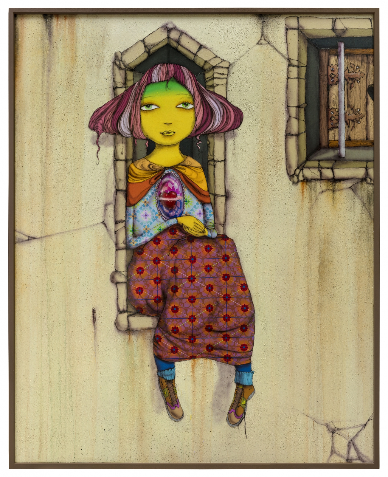 OSGEMEOS, When the leaves turn yellow, 2018