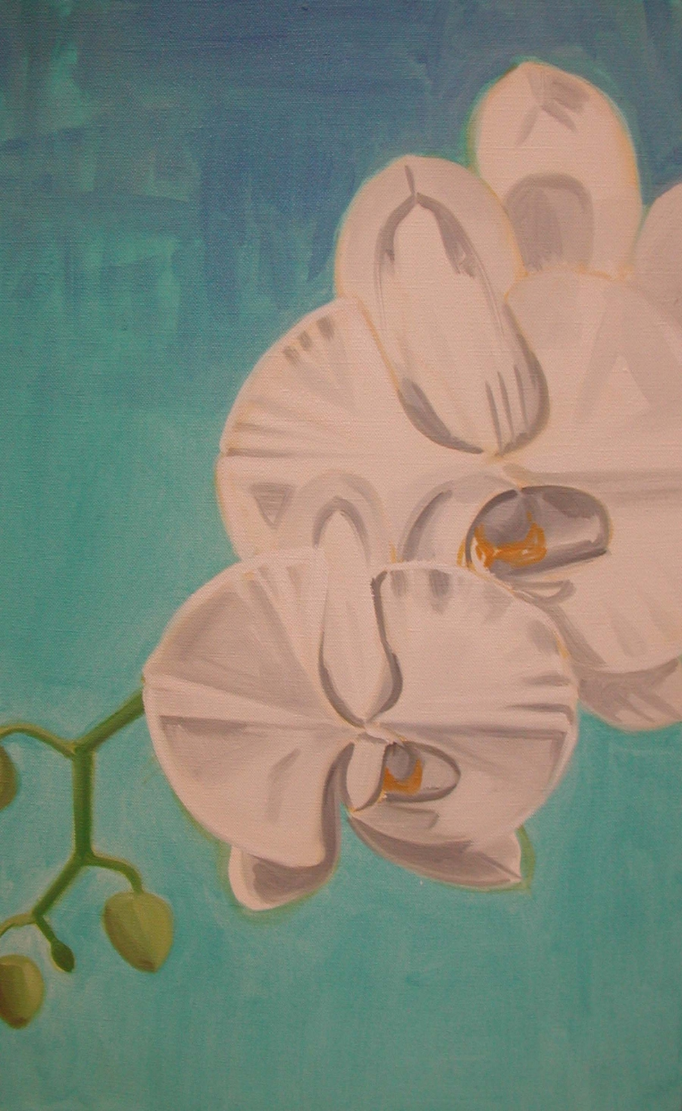 DAVID SALLE, White Orchid, 2002