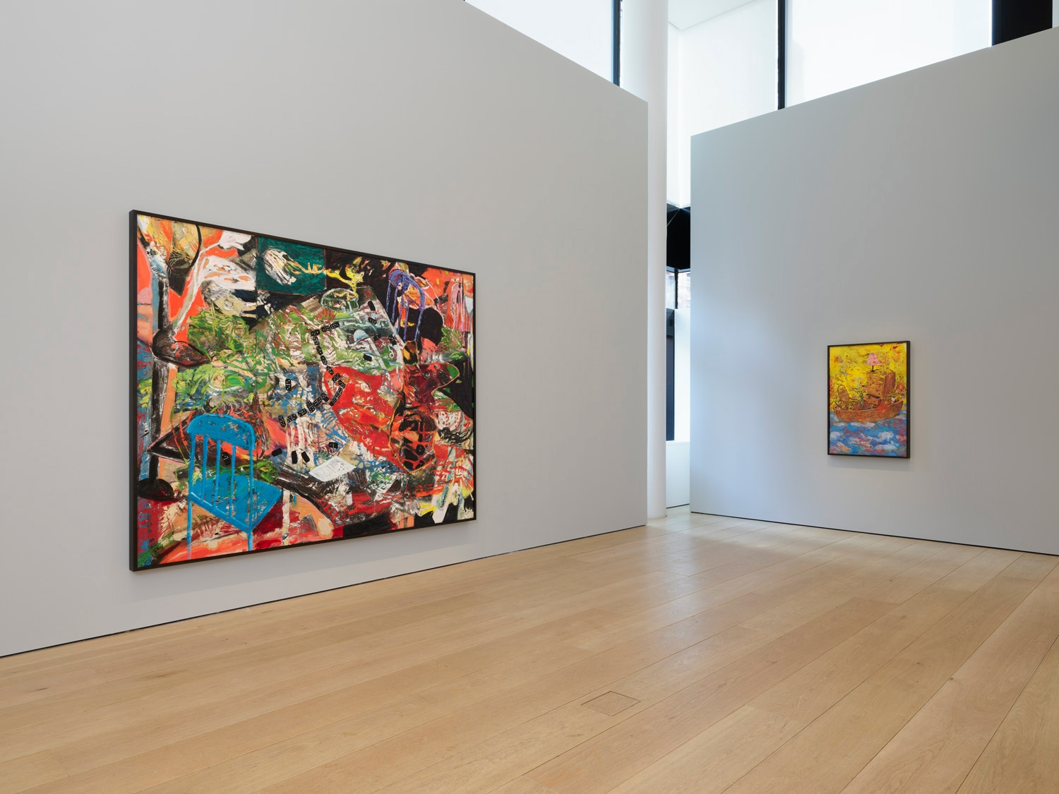 First installation view of the exhibition Angel Otero: The Fortune of Having Been There at Lehmann Maupin in New York