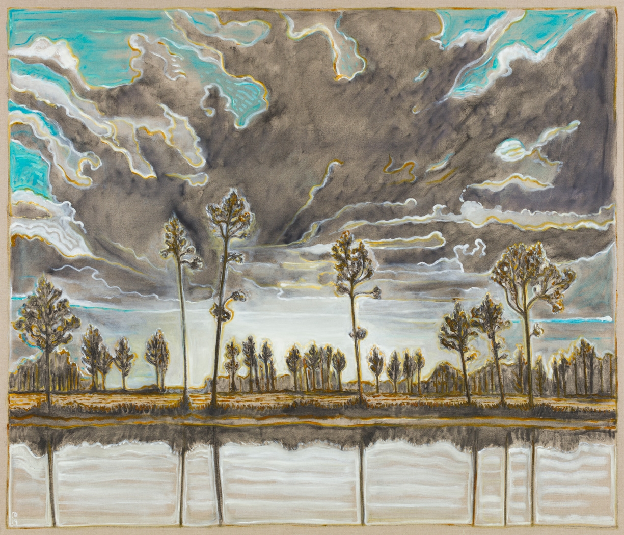 BILLY CHILDISH, trees and sky, 2019
