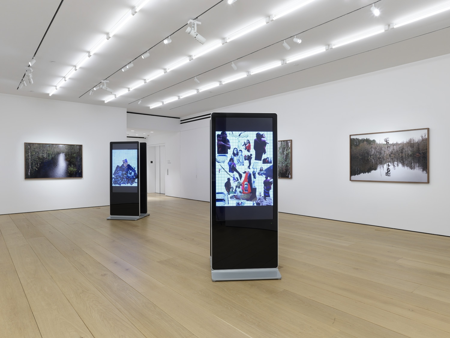 First installation view of the exhibition Catherine Opie: Rhetorical Landscapes at Lehmann Maupin New York