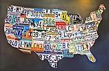 The Original License Plate Art 48 States ©1996