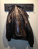 Leather Bomber Jacket in Bronze