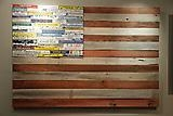 American Flag with License Plates