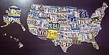 The Original License Plate Art 50 States ©1996