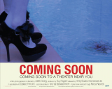 "Placart or Lobby Card for ""COMING SOON"" COMING SOON TO A THEATER NEAR YOU (black pumps)"