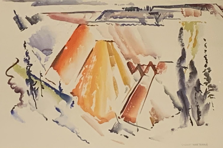 George Dibble   untitled (Cedar Breaks, Utah)   c. 1952   watercolor