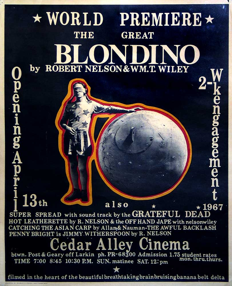 """Poster for the premiere of the film """"The Great Blondino"""" in 1967"""