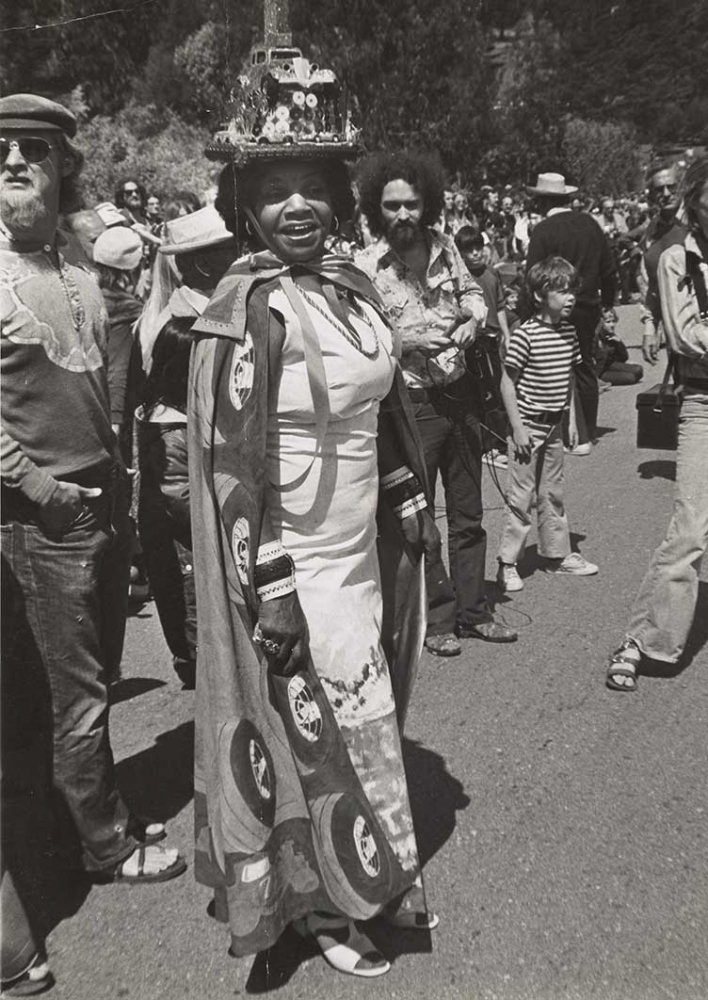 Florence Allen at the San Francisco Artists' Soap Box Derby, 1975.