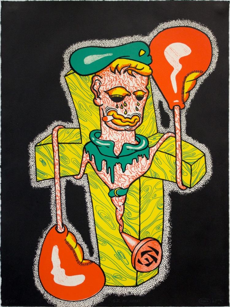 Peter Saul 'GI on the Cross'