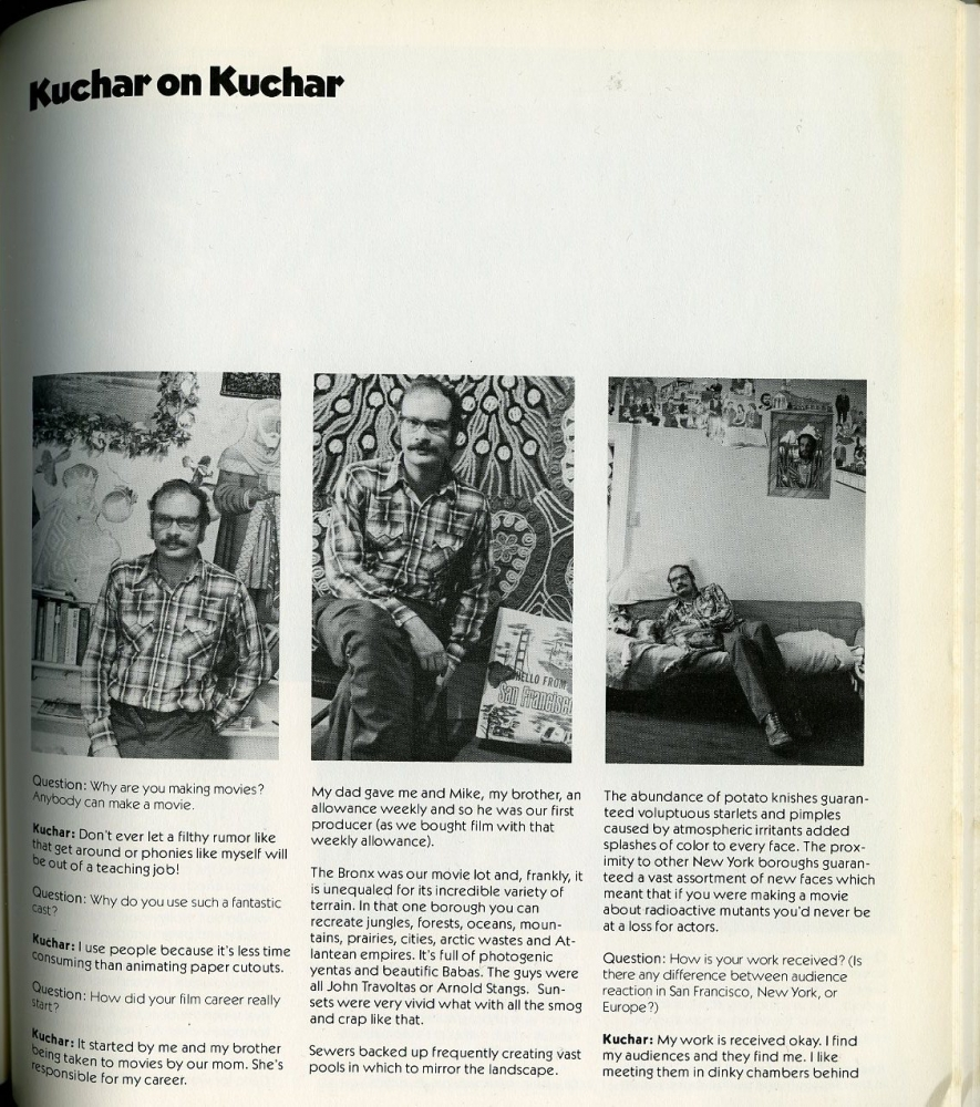 """""""Kuchar on Kuchar,"""" from the 1979-81 SFAI Collage Catalog."""