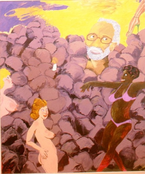 Robert Colescott, Hard Time, 1982.
