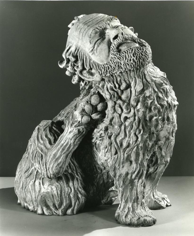 Robert Arneson, Old Bob with Itch, 1982.
