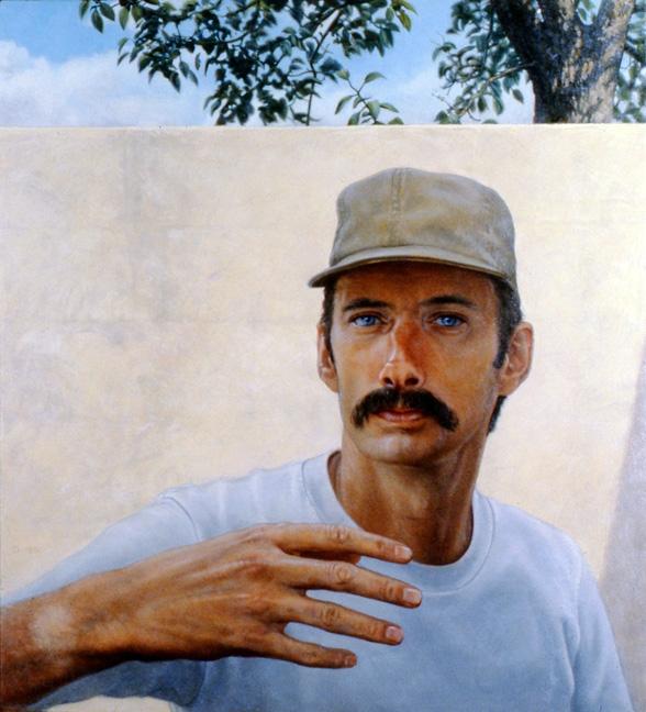 Daniel Dallmann, Self-Portrait by the Garden Wall, 1981.