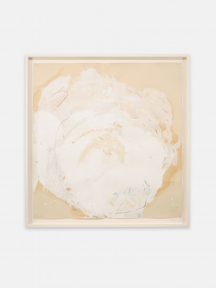 Joseph Havel  Weather Sphere II, 2012-2014  Graphite, oil paint and oil stick on paper  43 x 44 inches  109.2 x 111.8 cm