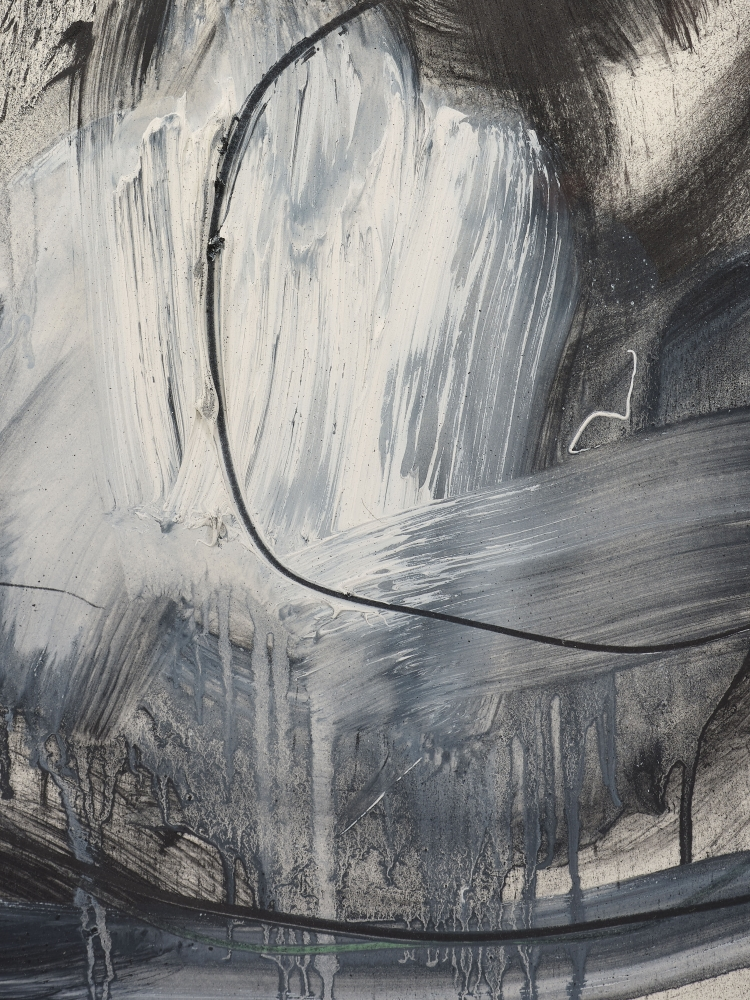 Joseph Havel  How to Draw a Circle II, 2014  Graphite and oil paint on paper  30 x 23 inches  76.2 x 58.4 cm