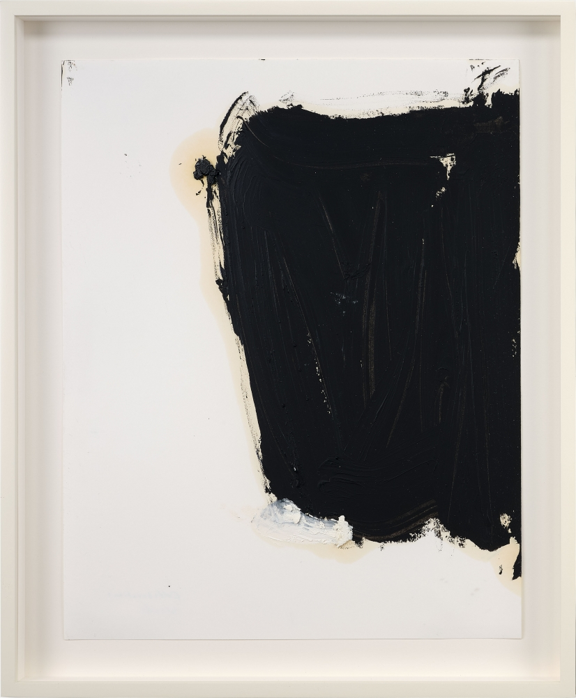 Joseph Havel, Collaborative 1, 2020, Oil stick on paper, Diptych, Framed Dimensions: 16 x 13 inches (each), 40.64 x 33.02 cm (each)