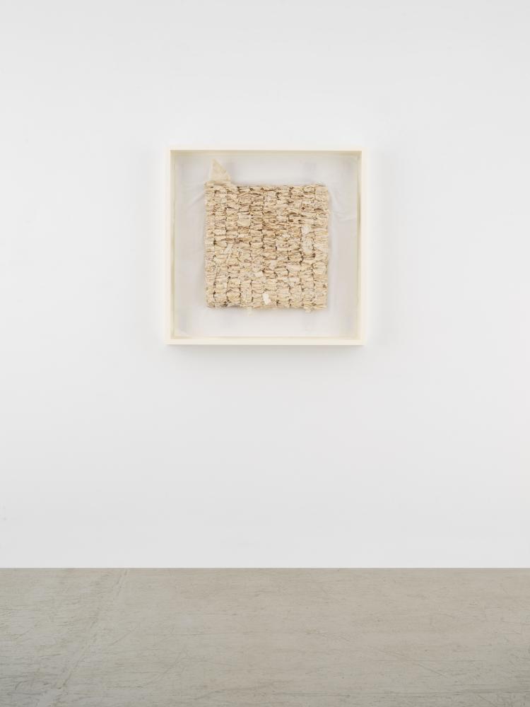 Leonardo Drew Number 93SD, 2021 Cast paper on paper 34 3/4 x 35 x 3 inches 88.3 x 88.9 x 7.6 cm