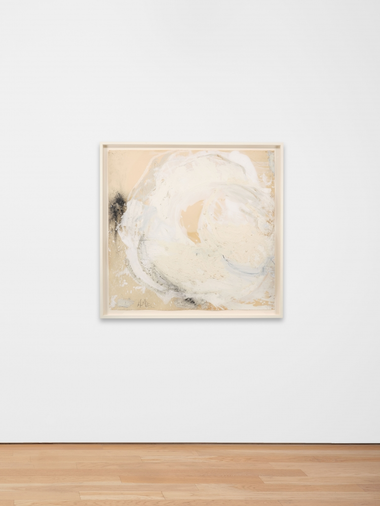 Joseph Havel  Weather Sphere I, 2012-2014  Graphite, oil paint and oil stick on paper  43 x 44 inches  109.2 x 111.8 cm
