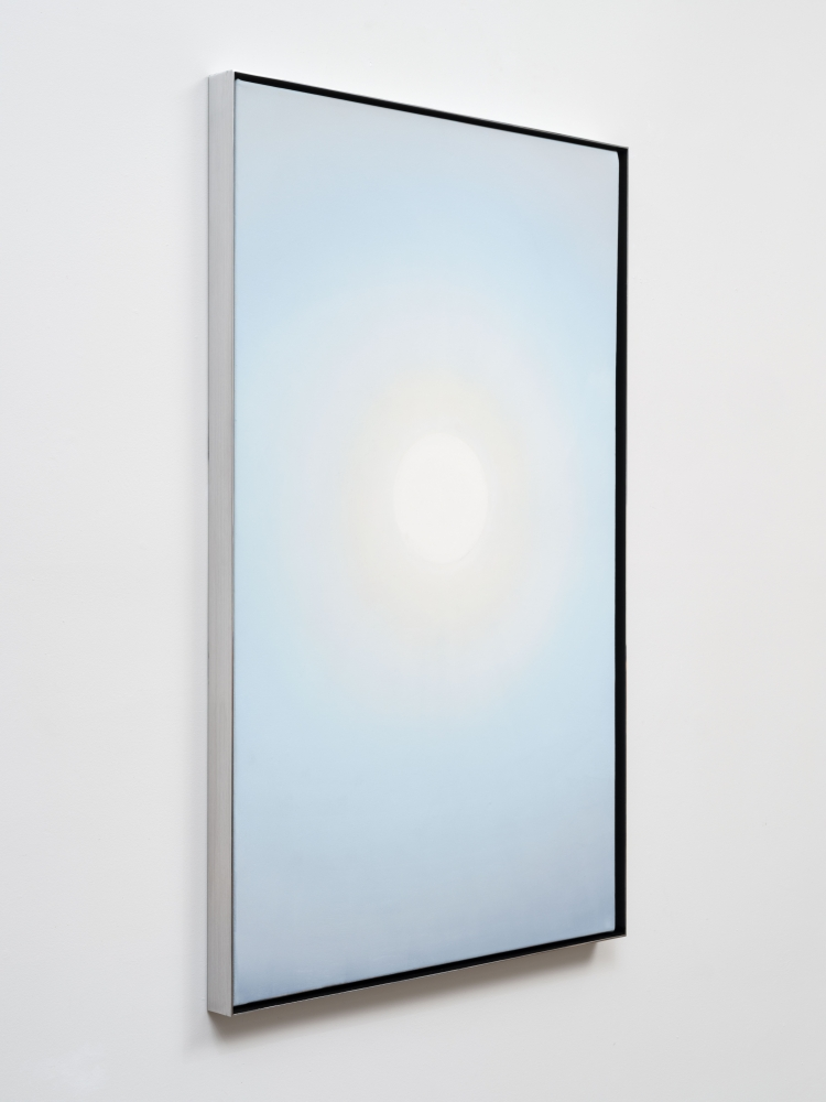 """Rob Reynolds """"ONE"""", 2020, Oil, alkyd and acrylic polymer paint on canvas in welded aluminum artist's frame, Framed Dimensions: 48 3/4 x 30 x 2 inches"""