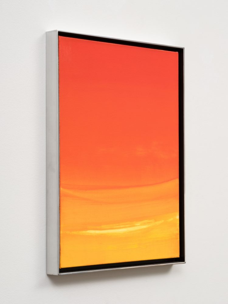 """Rob Reynolds """"Magic Hour"""", 2018, Oil, alkyd and acrylic polymer paint on canvas in welded aluminum artist's frame, Framed Dimensions: 16 3/4 x 12 3/4 inches"""