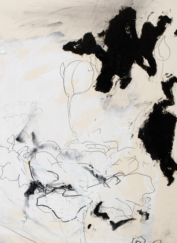 Joseph Havel  First Flowers (S.F.) 3, 2017  Graphite and oil paint on paper  30 x 23 inches  76.2 x 58.4 cm