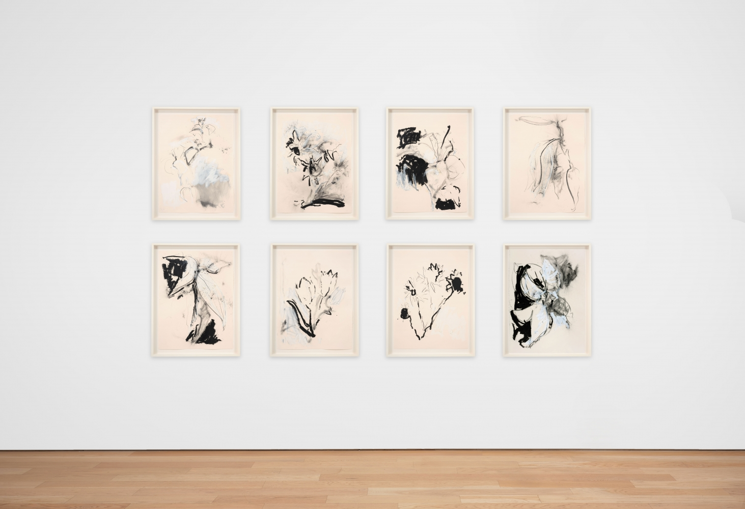 Joseph Havel  First Flowers (S.F.) 10, 2017  Graphite and oil paint on paper  30 x 23 inches  76.2 x 58.4 cm