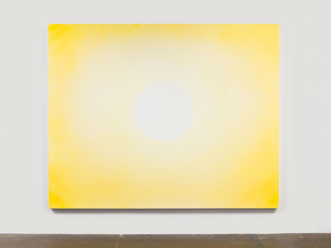 """Rob Reynolds  """"Sun 1,"""" 2018  Oil, alkyd and acrylic polymer paint on canvas,  80 x 100 inches"""