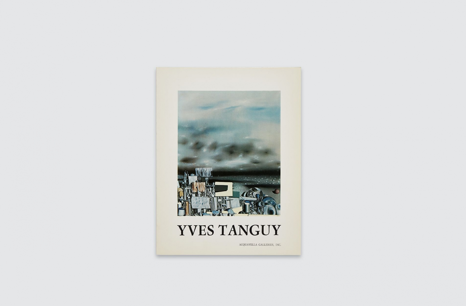 Catalogue for Yves Tanguy exhibition, fall 1974.