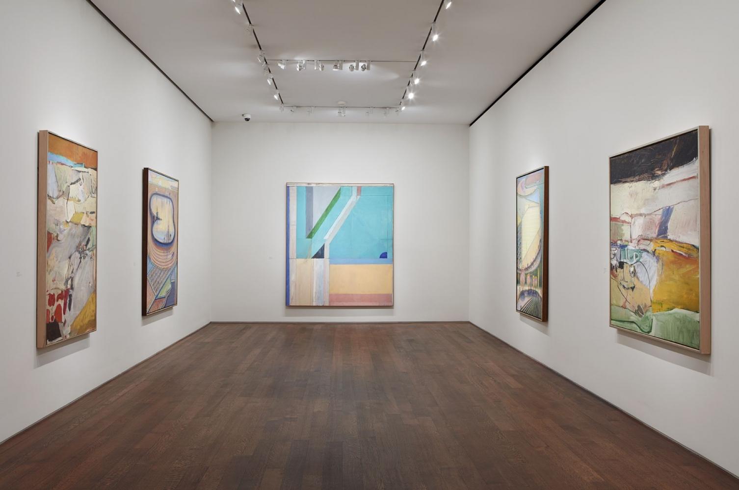 Installation view of California Landscapes: Richard Diebenkorn   Wayne Thiebaud, February 1 - March 16, 2018.