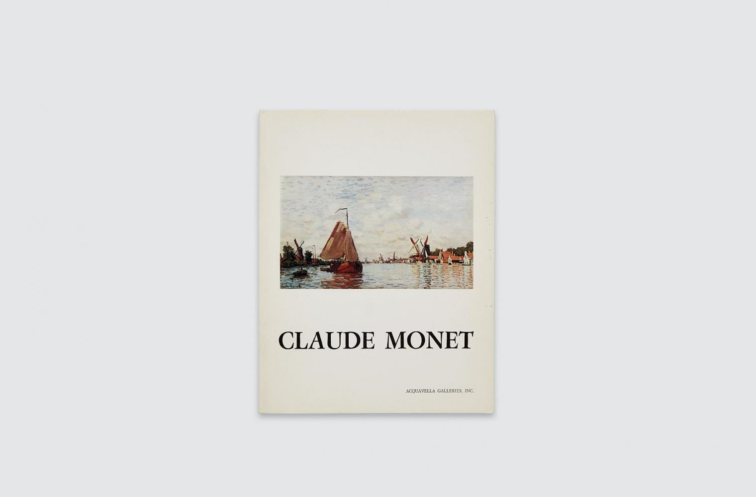 Catalogue for Claude Monet exhibition, fall 1976.