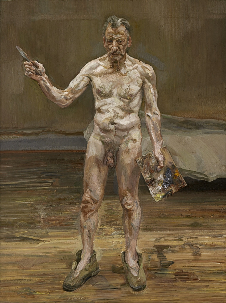 Lucian Freud  Painter Working, Reflection, 1993