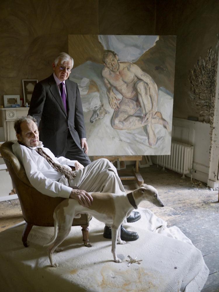 Lucian Freud with Bill Acquavella