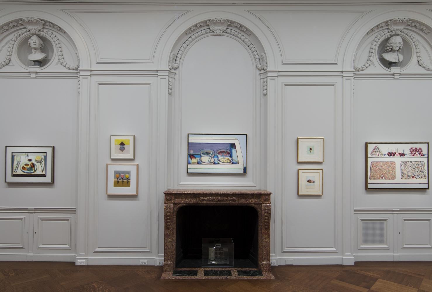 Installation view of Wayne Thiebaud: A Retrospective, October 22 - November 29, 2012.